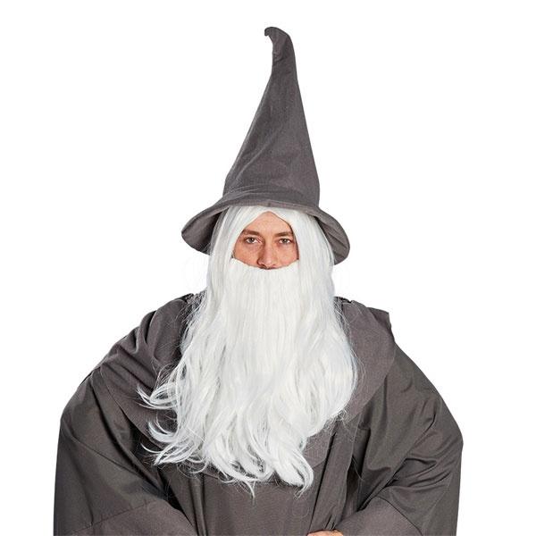 Kostüm-Zubehör Perücke Zauberer mit Bart