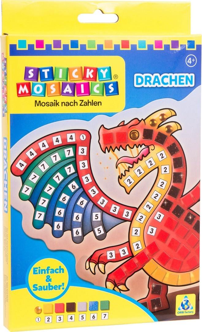 Bastelset Sticky Mosaik nach Zahlen Drachen