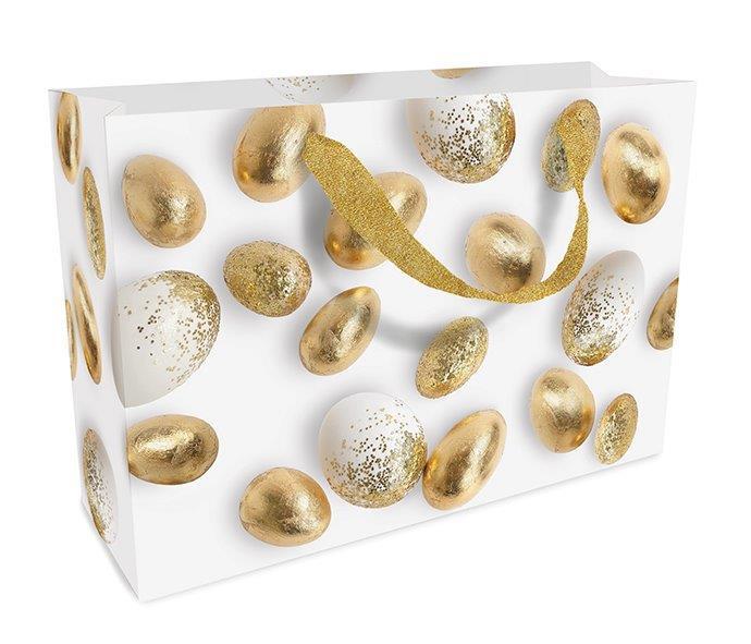 Geschenktasche Ostern Golden Eggs 23 x 17 x 10 cm