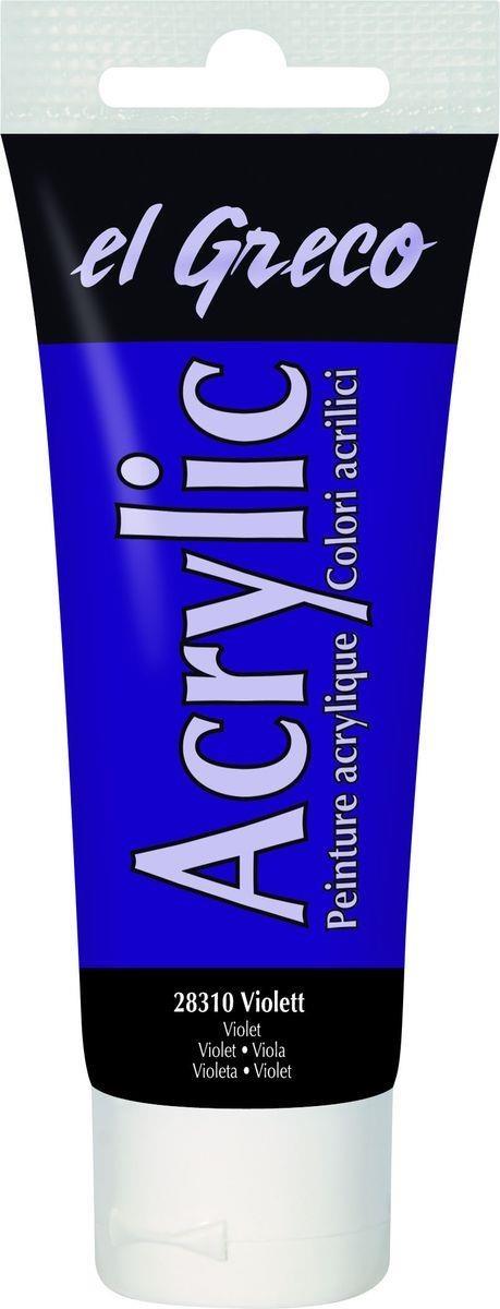 El greco Acrylic Acrylfarbe Violett 75 ml