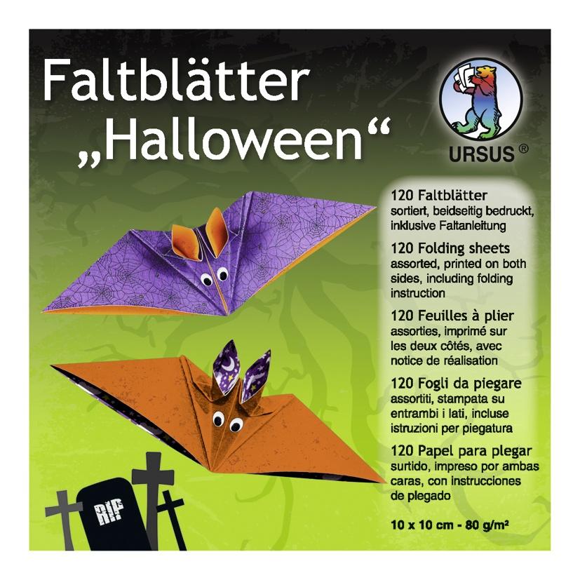Faltblätter Halloween 10 x 10 cm