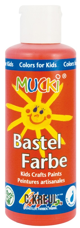 Kreul Mucki Bastelfarbe orange 80 ml
