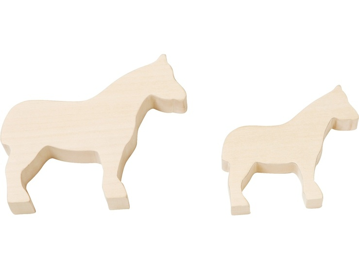 Haba 302547 Terra Kids Schnitzrohlinge Pferde