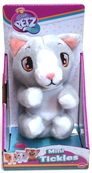 Mini Tickles Katze grau/weiß