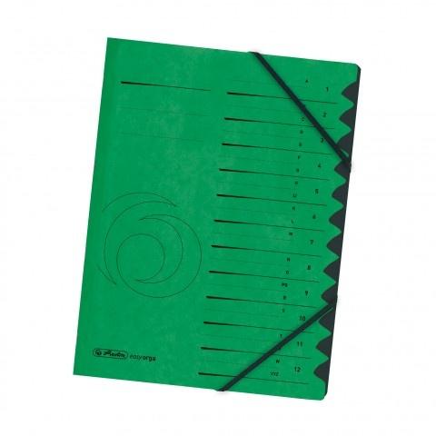 Ordnungsmappe Colorspan 1-12 grün