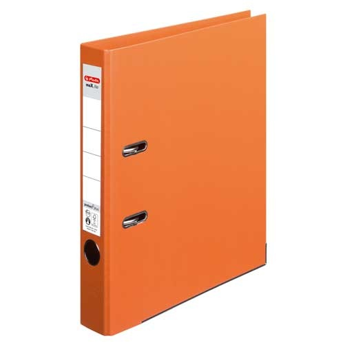 Ordner A4 max.file protect orange 5 cm von Herlitz