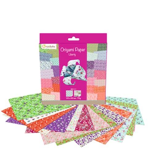 Avenue Mandarine Origami Papier Liberty 20 x 20 cm