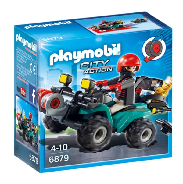 Playmobil 6879 City Action Ganoven-Quad mit Seilwinde