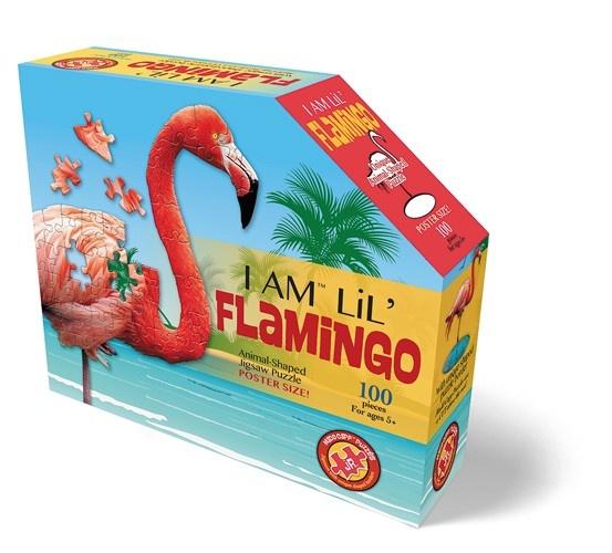 Konturenpuzzle Flamingo 100 Teile