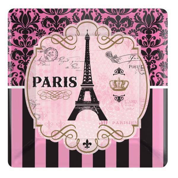 Party-Teller Ein Tag in Paris quadratisch ca. 17,8 cm