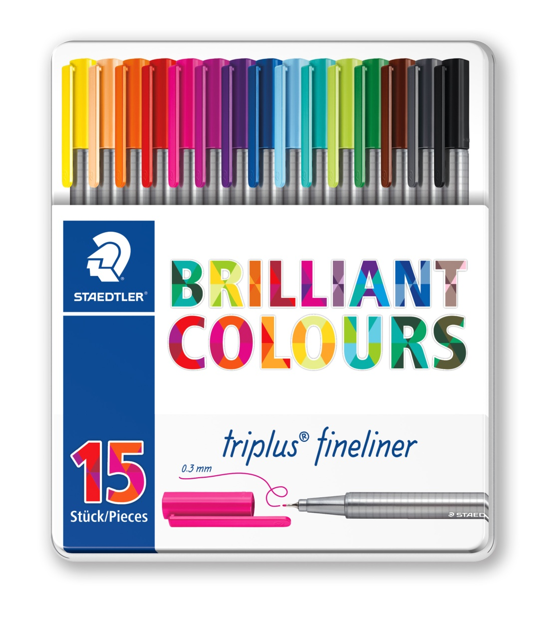 Staedtler Fineliner triplus Brilliant Colours 15 Stück