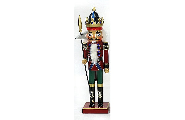 Nussknacker 38 cm mit Krone