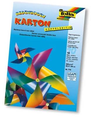 Folia Regenbogen Karton 10 Blatt