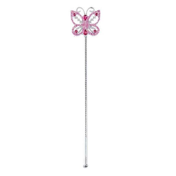 Kostüm-Zubehör Feenstab Butterfly 39cm pink