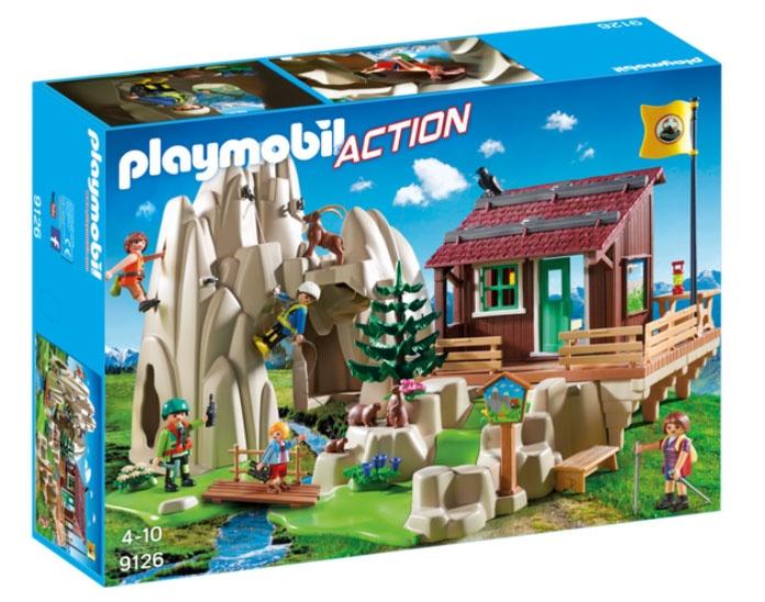 Playmobil 9126 Action Kletterfels mit Berghütte