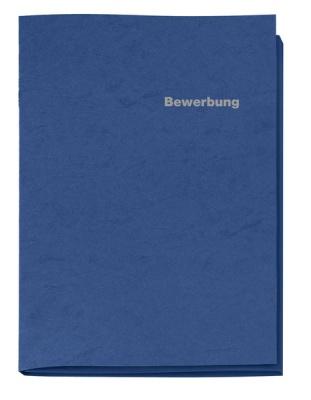 Bewerbungsmappe blau 3-tlg