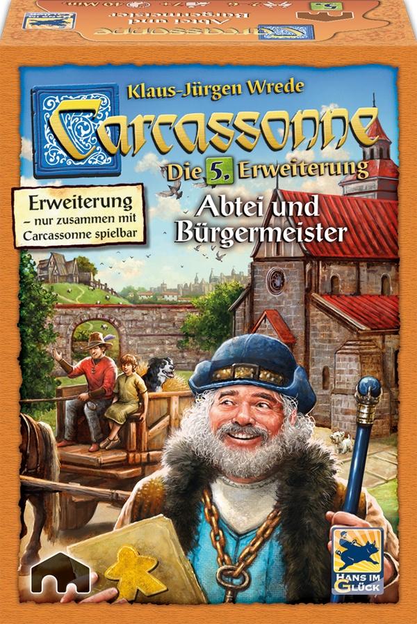 Carcassonne Abtei und Bürgermeister 5. Erweiterung