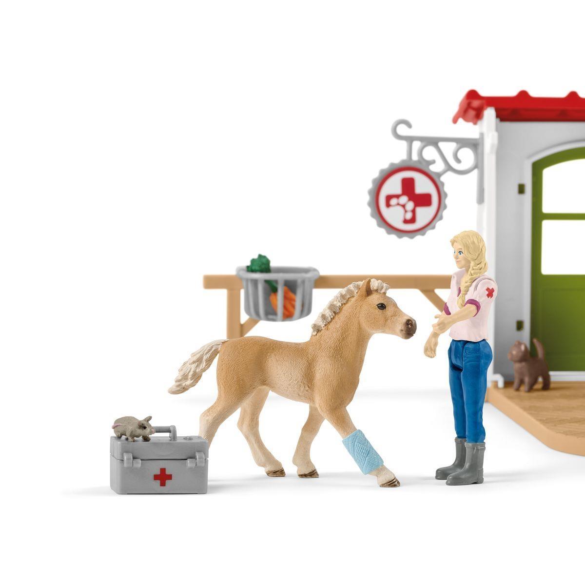 Schleich Farm World Tierarztpraxis mit Haustieren 42502