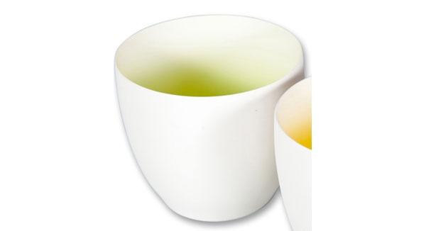 Teelichthalter mit Farbverlauf 10 cm grün