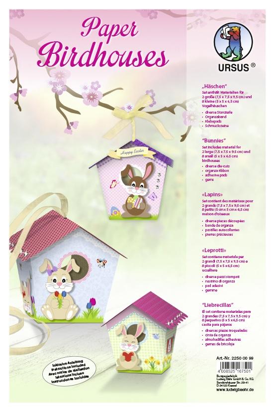 Bastelmappe Paper Birdhouses Häschen
