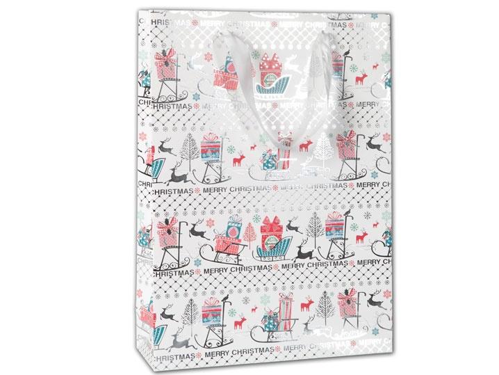 Geschenktüte Merry Christmas 25x34 cm