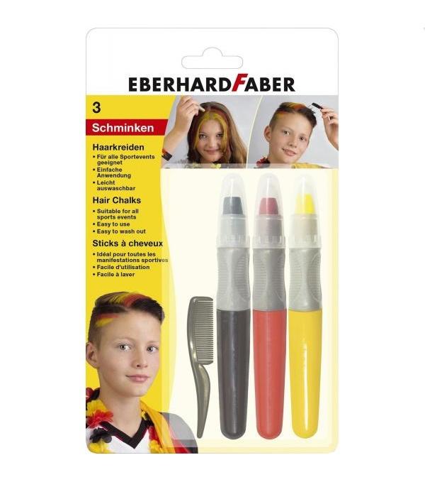 Faber Haarkreide Set Deutschlandfarben