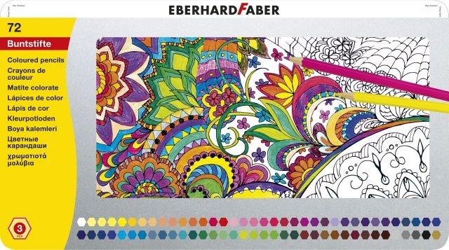 Faber Buntstifte hexagonal 72Stck. in Blechbox
