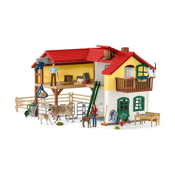 Schleich Farm World Bauernhaus mit Stall 42407