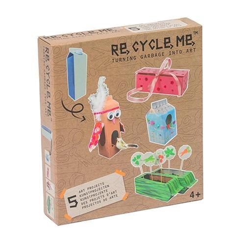 Re-Cycle-Me Bastelbox Basteln mit Milchkarton für Mädchen