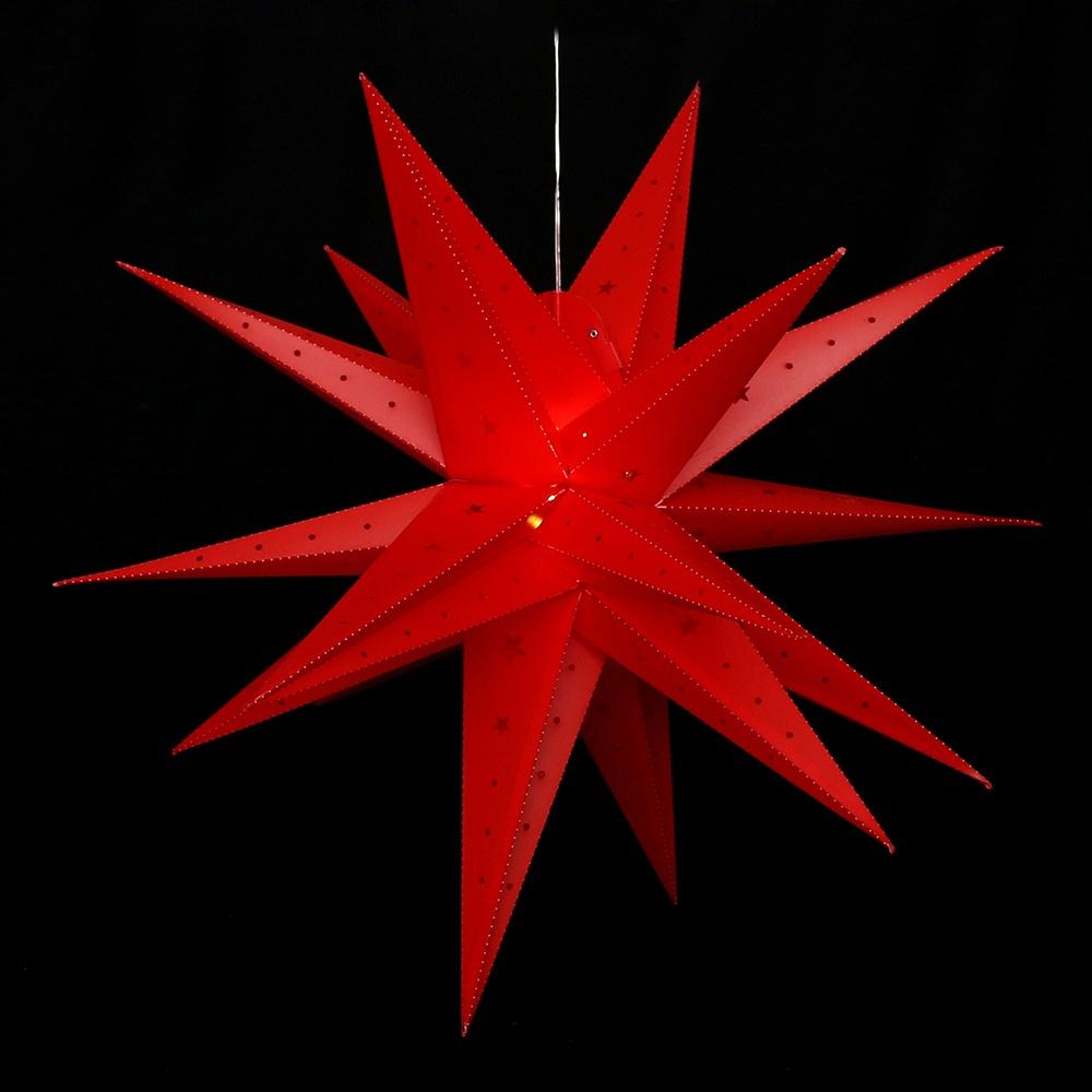 Adventsstern Falkensteiner 80 cm rot wetterfet