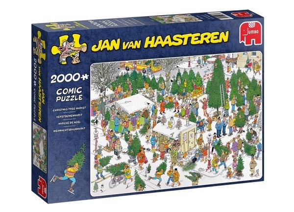 Puzzle Jan van Haasteren Weihnachtsbaummarkt 2000 Teile
