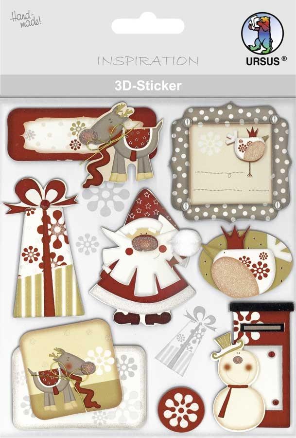 3-D Sticker Motiv 130 Weihnachten