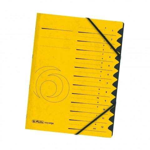 Ordnungsmappe Colorspan 1-12 gelb