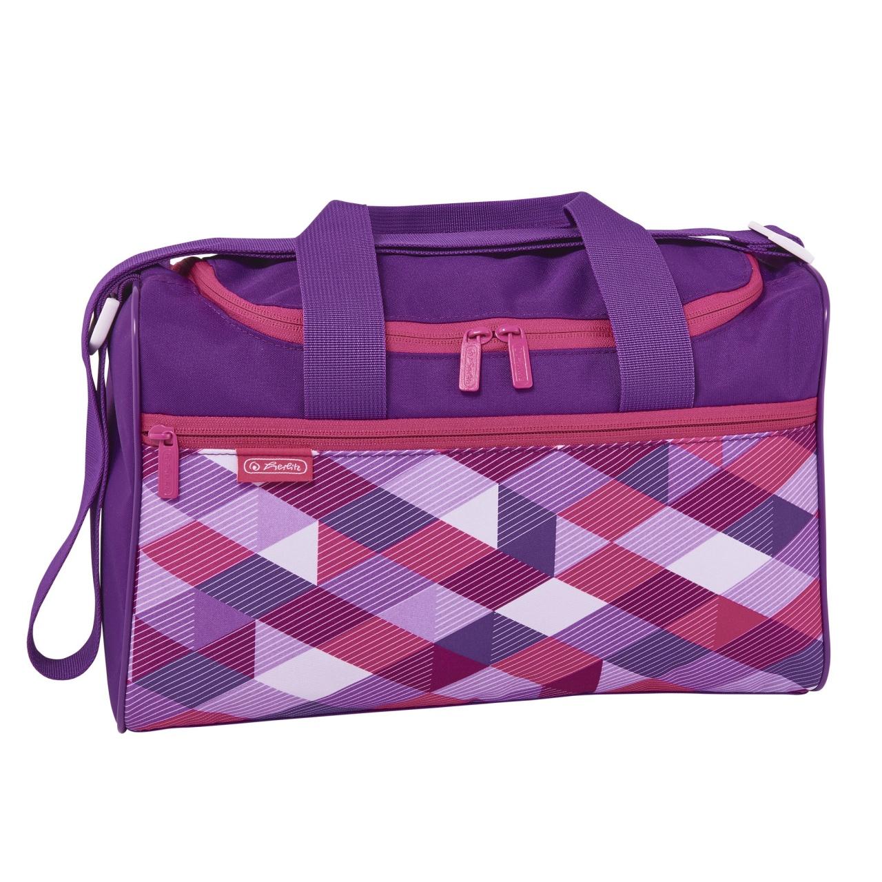 Herlitz Schulranzen-Zubehör Sporttasche Pink Cubes