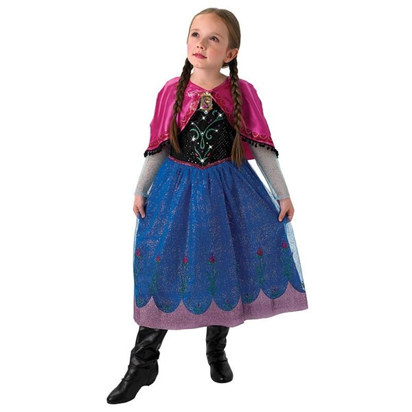 Kostüm Frozen Anna Musical Light up S 3-4Jahre
