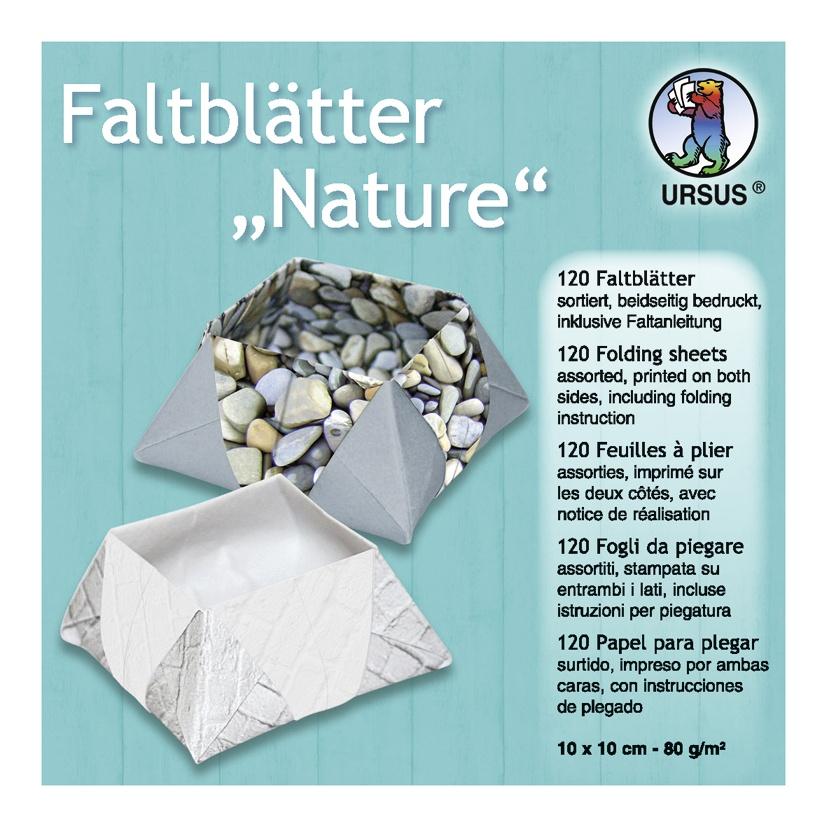 Faltblätter Nature 10 x 10 cm