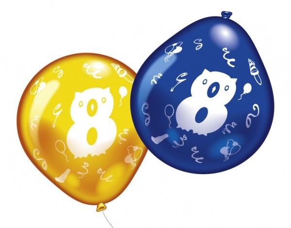 Luftballons mit Zahl 8 10 Stück