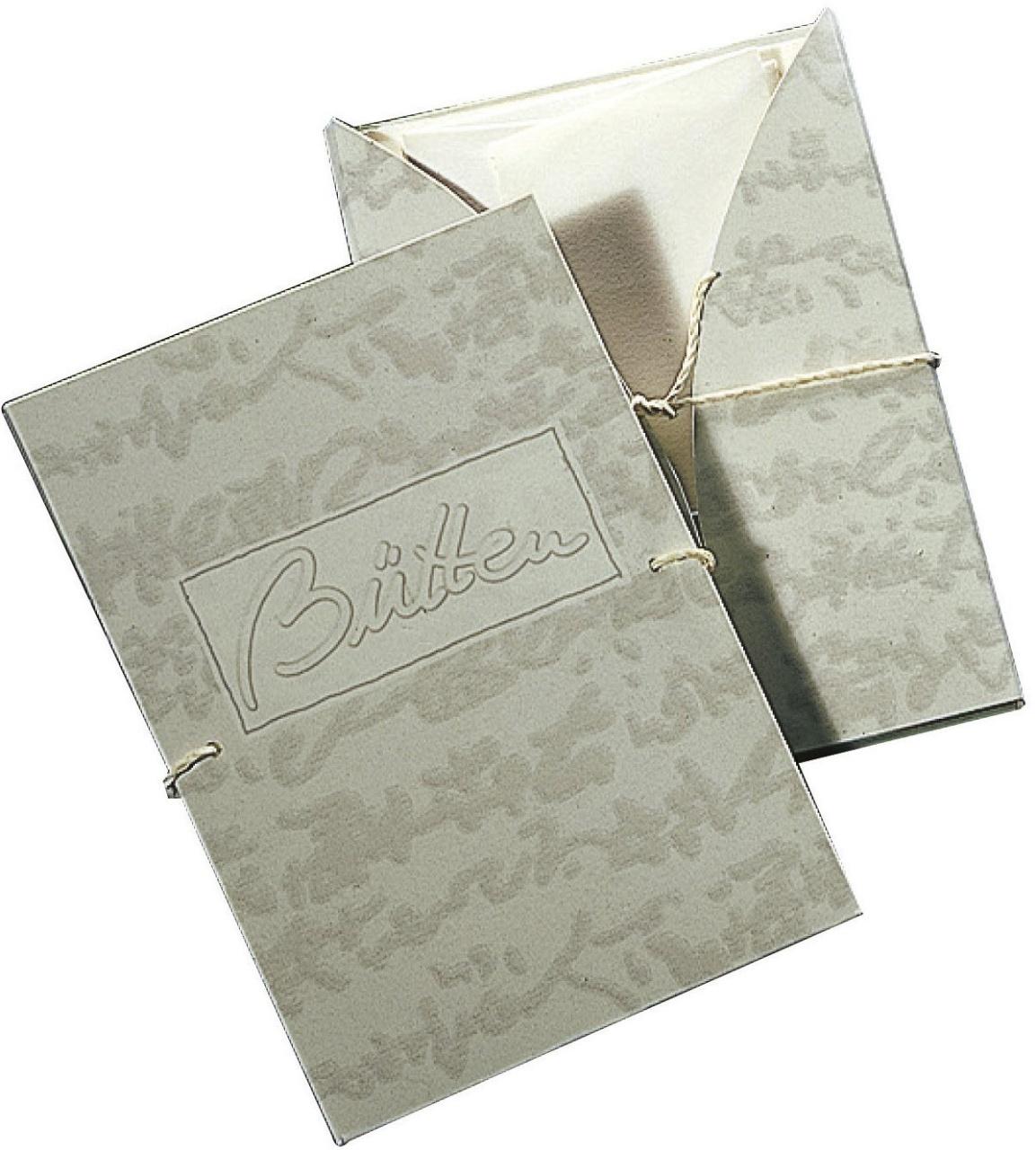 Briefpapier Briefmappe Bütten 6/6 A4/C6 weiß