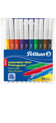Pelikan Fasermaler Colorella Star Triangular 10 Stück