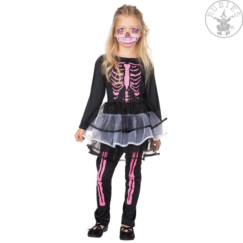 31692f89478aae Kostüm Skelett Kleidchen mit Leggins 128 - OsTow Onlineshop