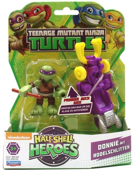 Turtles Figur Donnie mit Rodelschlitten