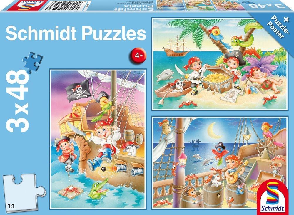 Schmidt Spiele Puzzle Piratenbande 3 x 48 Teile