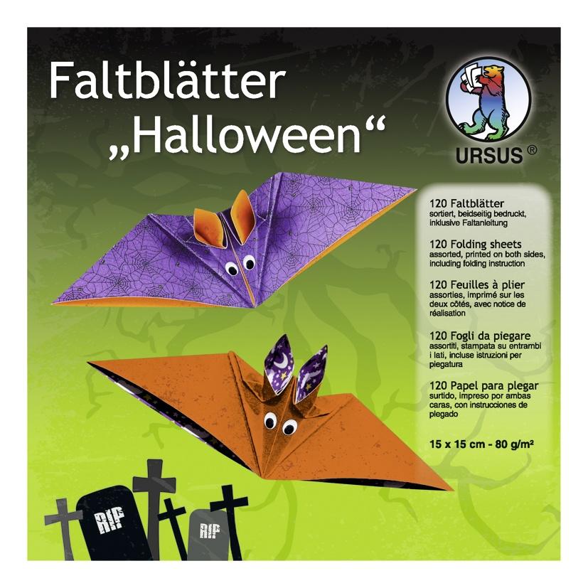 Faltblätter Halloween 15 x 15 cm