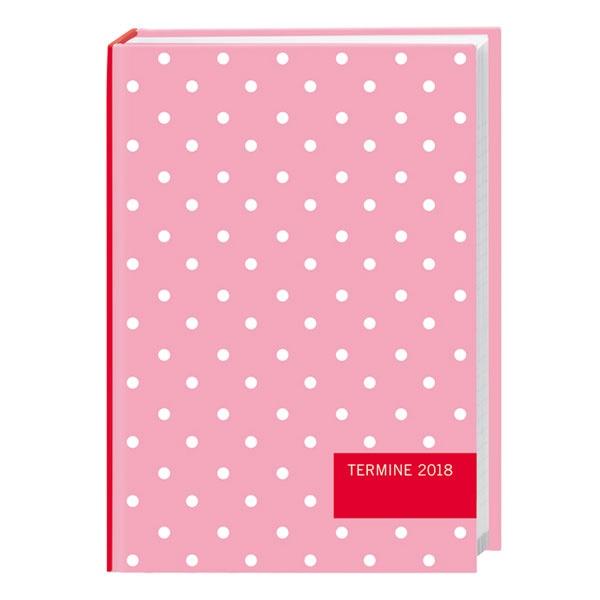 Taschenkalender rosa Punkte 2018 von Heye