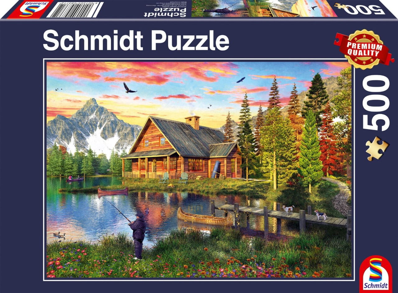 Schmidt Spiele Puzzle Angeln am See 500 Teile