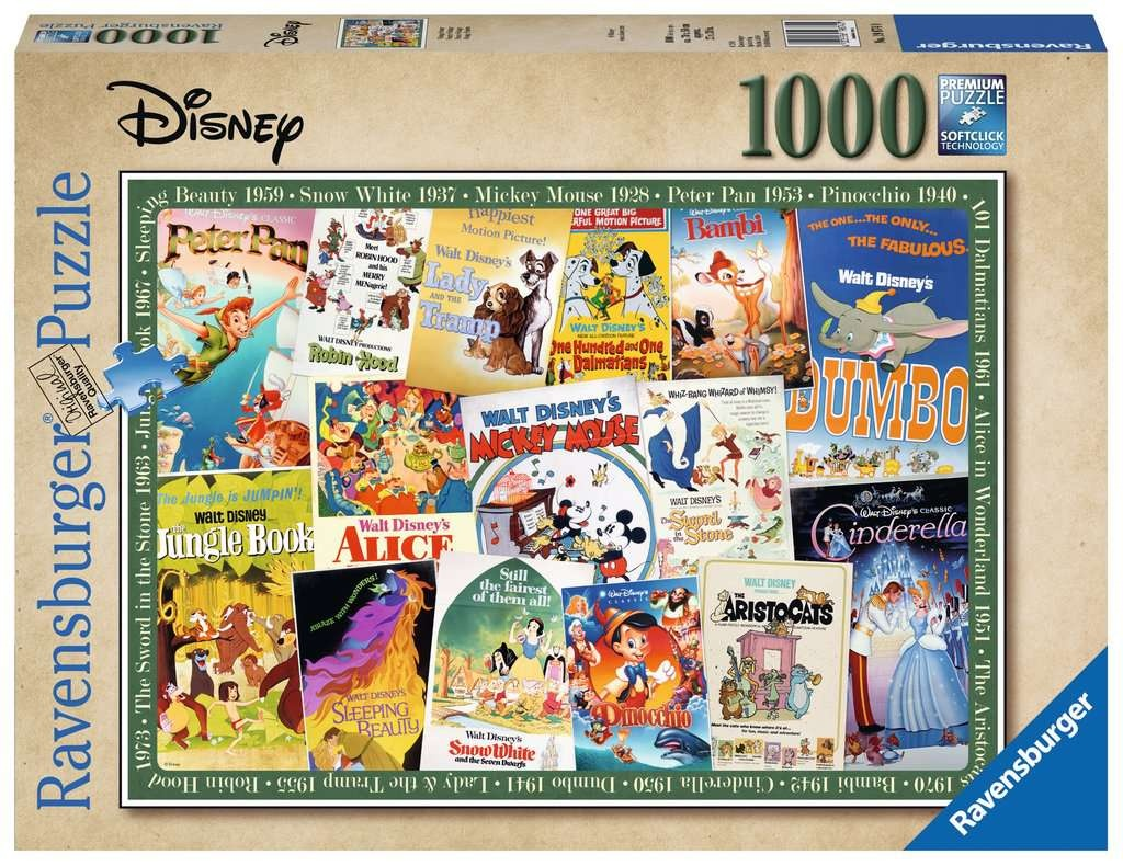 Ravensburger Puzzle Disney Vintage Movie Poster 1000 Teile