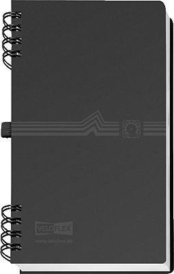 Telefonringbuch mit Spiralbindung A5 schwarz von Veloflex