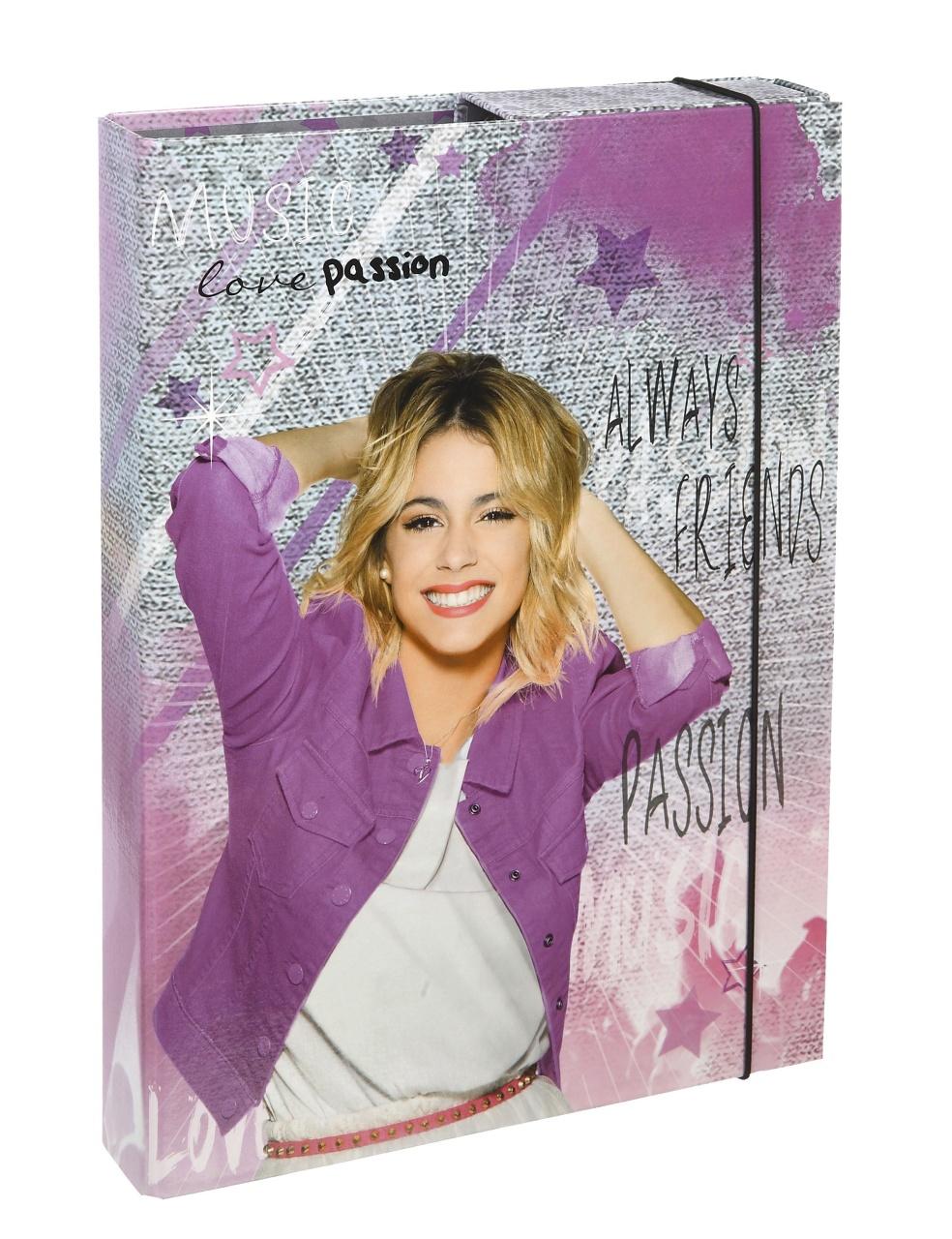 Violetta Heftbox A4 mit Gummizug