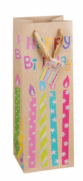 Geschenktasche Flache Happy Birthday 35 x 12 x 10 cm