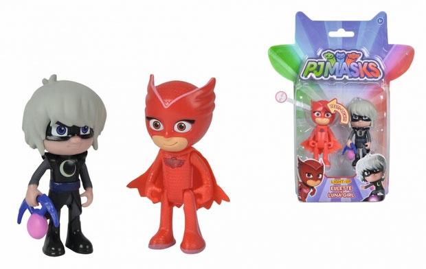 PJ Masks Light-Up Figuren-Set Eulette und Luna Girl
